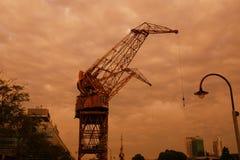 马德罗港起重机 免版税图库摄影