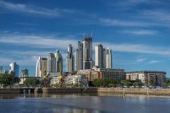 马德罗港,布宜诺斯艾利斯看法  库存图片