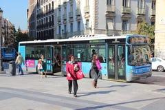 马德里公共汽车 免版税库存照片