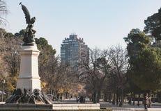 马德里公园retiro 库存图片