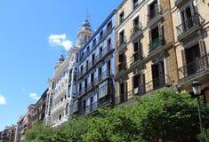 马德里典型的宫殿,西班牙,欧洲 免版税库存图片