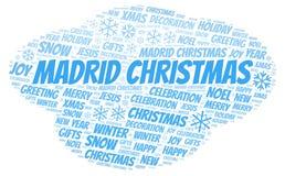 马德里圣诞节词云彩 皇族释放例证