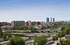 马德里地平线 免版税库存图片