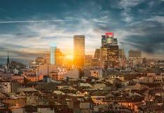 马德里地平线 免版税图库摄影