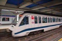 马德里地铁移动 库存图片