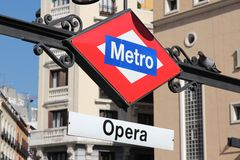 马德里地铁 免版税库存照片
