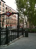 马德里地铁 库存照片