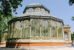 马德里外部的水晶宫 免版税库存照片
