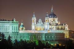 马德里大教堂  库存照片