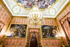 马德里宫殿pincipal皇家副西班牙 免版税库存图片