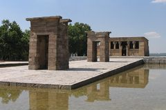 马德里寺庙 库存照片
