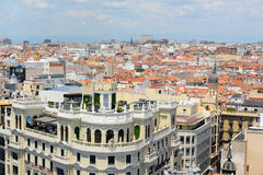 马德里市地平线,西班牙 免版税图库摄影