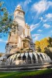 马德里市纪念碑,马德里,西班牙,欧洲11月 免版税库存照片
