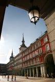 马德里市长广场西班牙 免版税库存图片