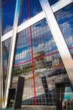 马德里市,商业中心,现代摩天大楼 免版税库存图片