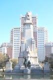 马德里广场西班牙 库存照片