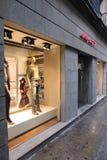 马德里时尚商店 库存照片