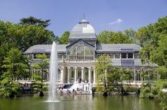 马德里水晶宫殿 库存照片