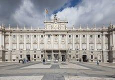 马德里王宫 免版税库存照片