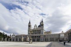 马德里的大教堂 图库摄影