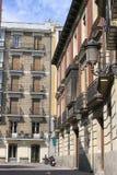 马德里街道 库存照片