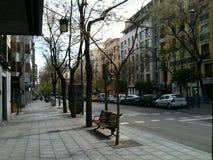 马德里街道 免版税库存照片