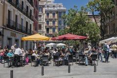 马德里街道 免版税库存图片