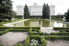 马德里西班牙:王宫 免版税库存照片
