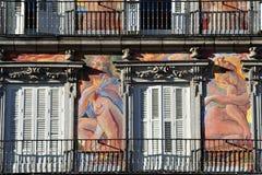 马德里都市风景 图库摄影