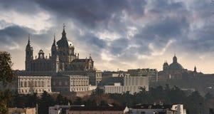 马德里都市风景 免版税库存图片