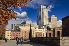 马德里都市风景 免版税库存照片