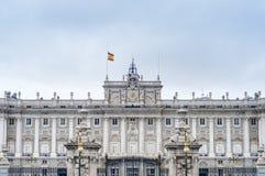 马德里,西班牙王宫。 库存图片