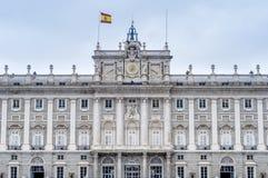 马德里,西班牙王宫。 免版税库存照片