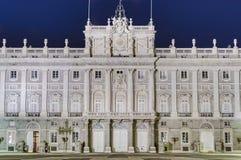 马德里,西班牙王宫。 免版税图库摄影