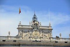 马德里,西班牙王宫  图库摄影