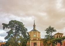 马德里,西班牙,建筑学背景 库存照片