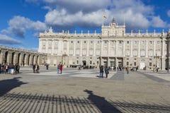 马德里,西班牙- 2014年12月06日:王宫在马德里 库存图片