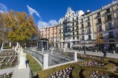 马德里,西班牙- 2014Mediterranean 12月06,在S的建筑学 库存图片