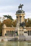 马德里, Retiro公园纪念碑 库存照片