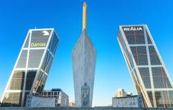 马德里, SPAIN-26 12月:Kio塔在马德里,西班牙 免版税图库摄影