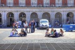 马德里 在广场市长 免版税库存图片