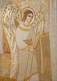 马德里-天使现代马赛克从卡皮亚del Santisimo的在Almudena大教堂里 免版税库存图片