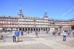 马德里 广场市长 免版税库存照片