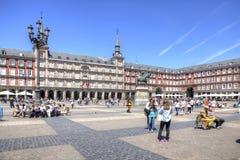 马德里 广场市长 库存照片