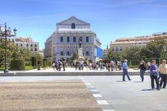 马德里 歌剧剧院在广场de Oriente 图库摄影
