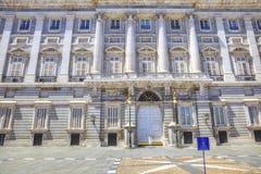 马德里 皇家的宫殿 免版税库存照片