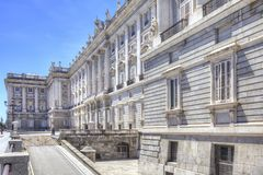 马德里 皇家的宫殿 库存图片