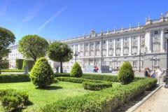 马德里 皇家的宫殿 库存照片