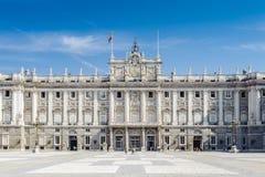 马德里建筑学,西班牙的首都 库存照片