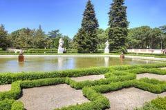 马德里 都市风景 Sabatini庭院 免版税图库摄影